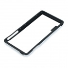 Protective Soft Plastic Bumper Frame Case for Sony Xperia Z3 - White + Black