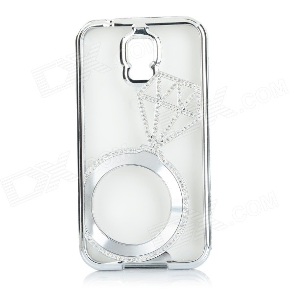 S5-A Luxurious Rhinestone-studded Protective Bumper Frame Case for Samsung Galaxy S5 - Silver 12x zoom camera lens telescope for samsung galaxy s5 silver