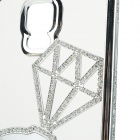 Luxurious Rhinestone-studded Protective Bumper Frame Case for Samsung Galaxy S5 - Silver