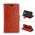 Protective PU + PC Flip-Open Case w/ Stand / Card Slots for Motorola MOTO G2 - Brown