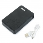 Universal DIY 5 x 18650 Flat Head Li-ion Batteries Mobile Power Bank Case w/ Flashlight - Black