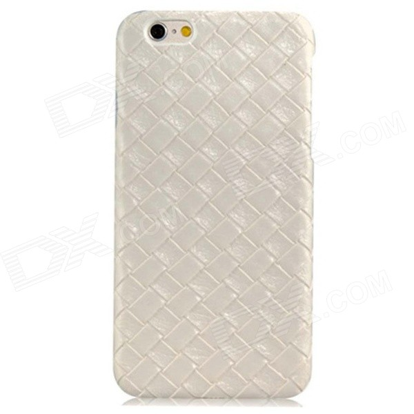 Weave Veins Pattern PC Hard Case for IPHONE 6 - White kavaro swarovski rose gold plated pc hard case for iphone 6s 6 mandala pattern