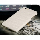 Weave Veins Pattern PC Hard Case for IPHONE 6 - White