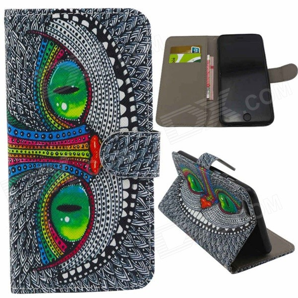 все цены на Cartoon Protective PU Leather Case Cover for IPHONE 6 PLUS 5.5
