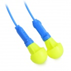 Washable Comfortable Mushroom-shaped EAR Ear Plugs Set w/ Cord - Yellow + Blue