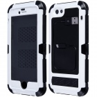"Redpepper Case Aluminum Alloy + Silicone Shockproof Case for IPHONE 6 4.7"" - White + Black"