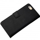Protective PU Leather + PC Flip Open Case w/ Card Slots / Stand for IPHONE 6 PLUS - Black