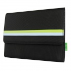Mallper MP-BC02 Brief Canvas Case Carrying Bag for IPAD - Black + Light Green