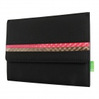 Mallper MP-BC03 Brief Canvas Case Carrying Bag for IPAD - Black + Red