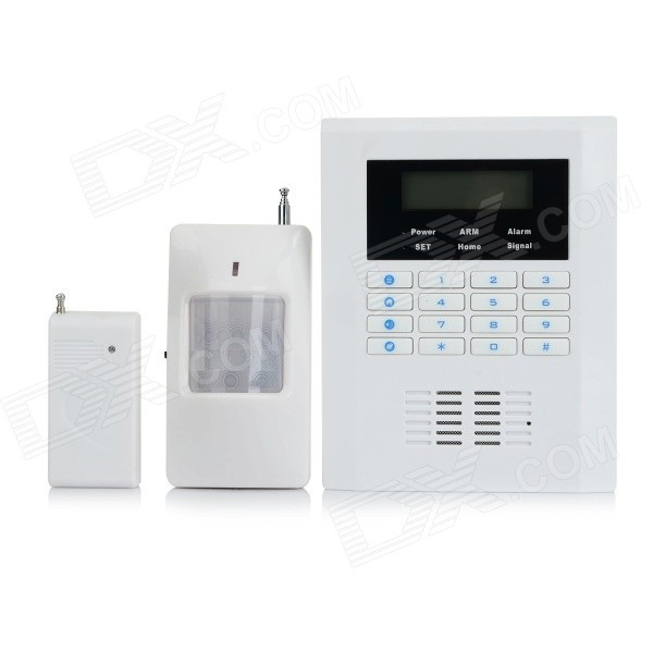 "2.5 ""Сигнализация LCD GSM + PSTN Dual Network Security - белый + черный (ЕС Plug)"