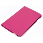 360 Degrees Rotating Flip-open PU Leather Case w/ Stand / Auto Sleep for IPAD MINI 3 - Deep Pink