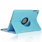 360 Degrees Rotating Flip-open PU Leather Case w/ Stand / Auto Sleep for IPAD MINI 3 - Sky Blue