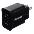 Kingma LP-E6 Dual-Port Battery Charger + Wall Charger for Canon 5D Mark III/6D/7D/70D/60Da (US Plugss)