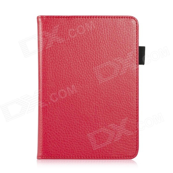 EPGATE A00665 Lychee Pattern Protective PU Flip-Open Case for 6 Amazon 2014 New Kindle - Red ultra slim protective pu flip open smart case for amazon kindle paper white brown