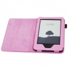 "EPGATE A00665 Lychee Pattern Protective PU Flip-Open Case for 6"" Amazon 2014 New Kindle - Pink"
