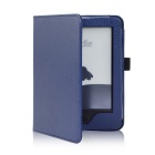 "EPGATE A00665 Lychee Pattern Protective PU Flip-Open Case for 6"" Amazon 2014 New Kindle - Deep Blue"