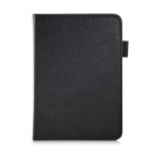"EPGATE A00665 Lychee Pattern Protective PU Flip-Open Case for 6"" Amazon 2014 New Kindle - Black"