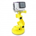 PANNOVO 4-in-1 Suction Cup Car Mount Holder for GoPro Hero 4 / 3+ / 3 / 2 / SJ4000 - Yellow