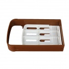 Cutting Sliced Toast Mold - White + Coffee