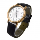 E-LY E11 Women's Analog Quartz Wrist Watch w/ Arabic Numeral Scale - Black + Golden
