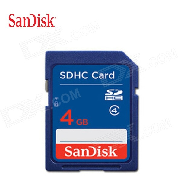 SanDisk SDHC Memory Card - Deep Blue (4GB / Class 4)