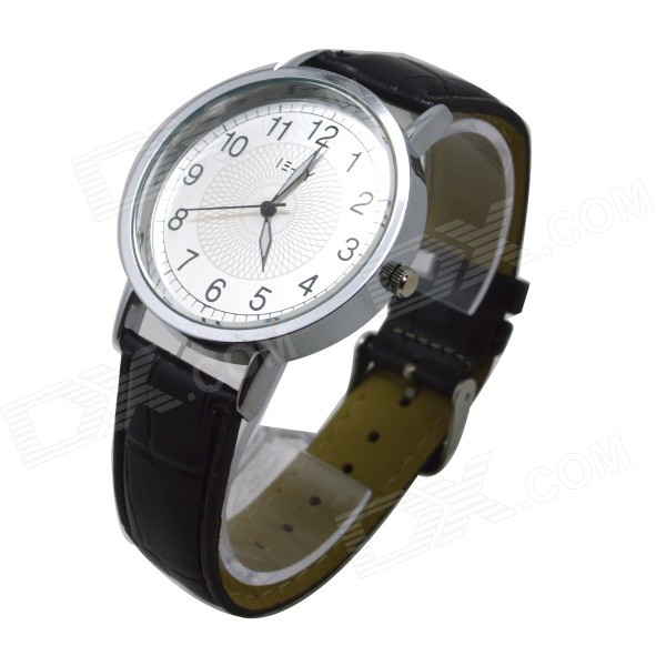 E-LY E11 Women's Analog Quartz Wrist Watch w/ Arabic Numeral Scale - Black + Silver