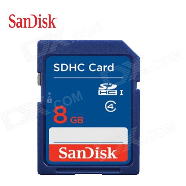 SanDisk SDHC Memory Card - Deep Blue (8GB / Class 4)