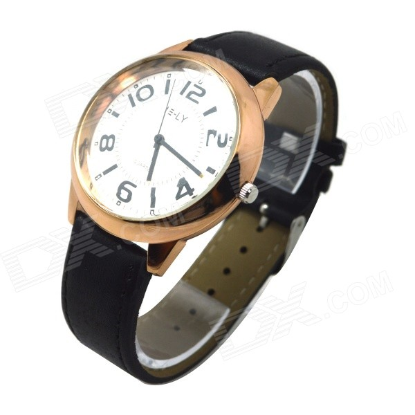 E-LY E10 Women's Analog Quartz Wrist Watch w/ Arabic Numeral Scale - Black