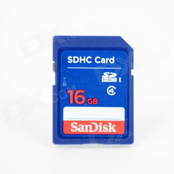 SanDisk SDHC Memory Card - Deep Blue (16GB / Class 4)