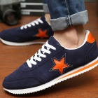 NT00017-4 Men's Five-Pointed Star Pattern Fashion Sports Leisure Sneakers - Dark Blue (43 / Pair)