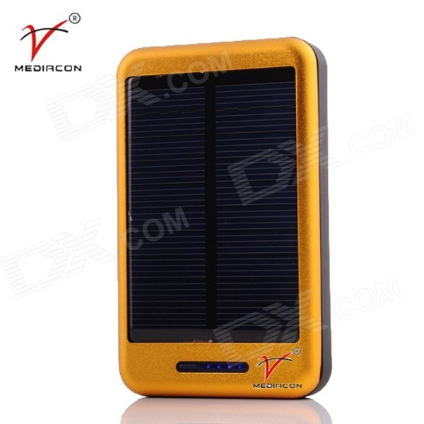 MEDIACON SP30000A Universal 1A 5V 30000mAh Li-ion Polymer Solar Power Bank Charger - Golden micro 5v 1a usb 18650 lithium battery charging board module protection new sell