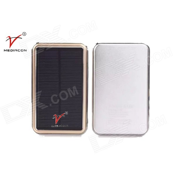 SP16800 Universal Solar Powered 50000mAh Power Bank for Cell Phone / Tablet PC - White + Golden
