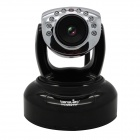 "Wansview 1/4"" CMOS 1.0MP PTZ Wireless IP Camera w/ Mobile View / 10-IR-LED / Wi-Fi - Black (US Plug)"