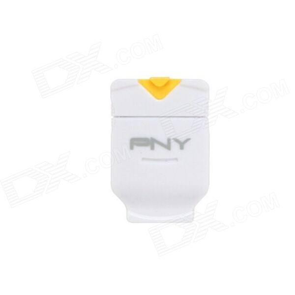 PNY USB 2.0 Micro SD / TF Card Reader - White (Max. 128GB)
