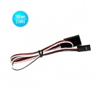 22AWG JR Male to JR Female 300mm Servo Extension Lead Wire Cables (30 PCS)
