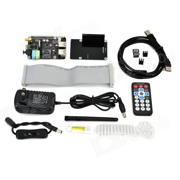 X300 Expansion Board w/ Remote Control Kit Set for Raspberry Pi B+ - Black tengying rtc direct extension compatible board for raspberry pi to arduino red