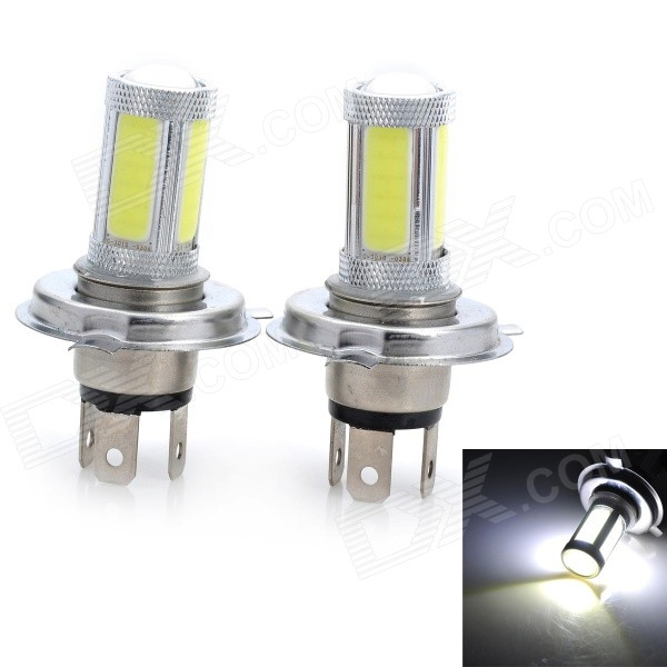 Marsing H4 12W 1800lm 6500K 5-COB LED Cold White Light Car Headlamp / Foglight (12V / 2 PCS)