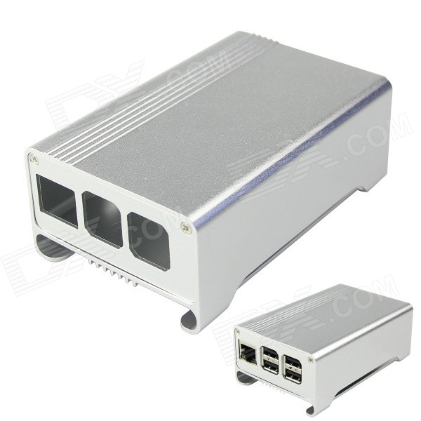 Geekworm High Quality Aluminum Alloy Case Enclosure Box for Raspberry Pi B+ - Silver