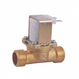 "ZnDiy-BRY 24V DC G1/2"" N/C Brass Inlet Solenoid Valve w/ Water-proof Case for Water Control"