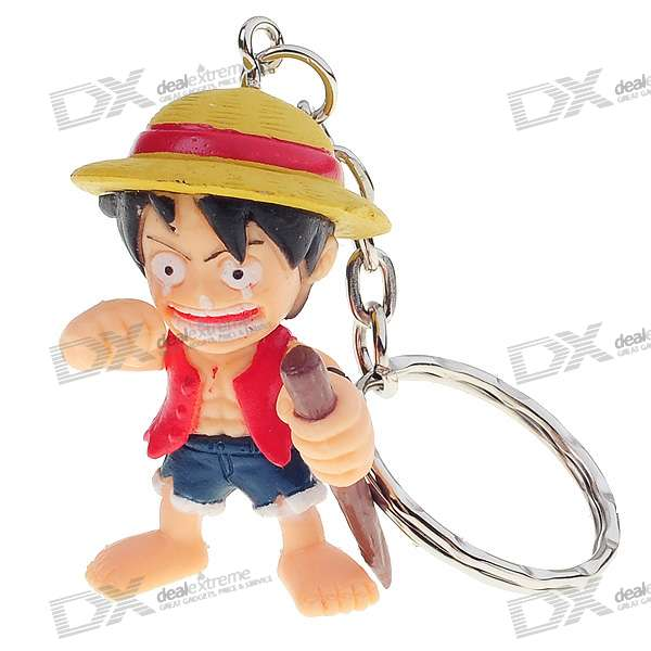 One Piece Figure Keychains (8-Piece Set)
