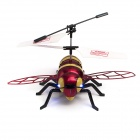 2-CH Honeybee Style IR R/C Outdoor Helicopter w/ Lamp - Black + Yellow + Red (6 x AA)