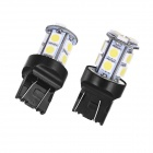 Merdia T20 5W 40lm 6000K 13 x 5050 SMD LED hvitt lys for bil Backup lys (Pair / 12V)