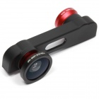 "PHO-FWM-6 3-in-1 Fish eye + Marco + Wide angle Lens for IPHONE 6 4.7"" - Black + Red"