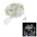 20W 100lm 6500K 200-LED Cool White Christmas Light String - White + Transparent (19.4M / AC220~240V)