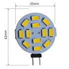JIAWEN G4 6W 450lm 3200K 12-5630 SMD Warm White Round Car Reading Light - White + Yellow (DC 12V)