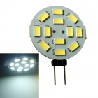 JIAWEN G4 6W 450lm 6500K 12-5630 SMD White Round Car Reading Light - White + Yellow (DC 12V)
