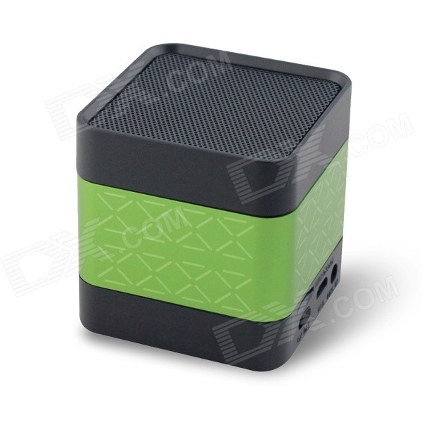 CKY BC136 Portable Mini Bluetooth V3.0 Speaker w/ 3.5mm / Micro USB - Green + Black