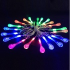 Water Drop Style Christmas Decorative 4.8W 20-LED RGB Flash Light String (AC 110~220V / 5m)