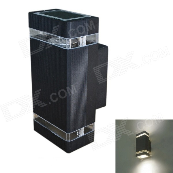 JIAWEN Waterproof Outdoor 8W 320lm 6500K 8-LED White Wall Balcony Lamp - Black (AC 85~265V)