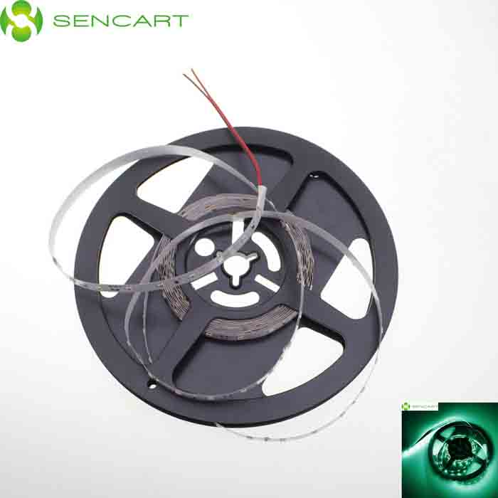 SENCART 30W 1200lm 524nm 300-SMD 3528 LED Green Light Strip - White + Transparent (5M / DC 12V)
